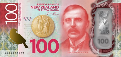 New Zealand $100 Note Featuring Lord Rutherford