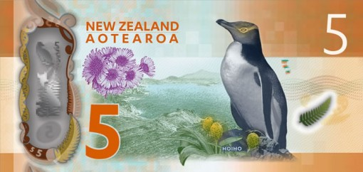 New Zealand $5 Note - Back