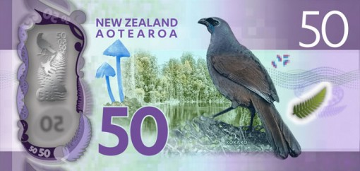 New Zealand $50 Note - Back