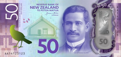 New Zealand $50 Note Featuring Sir Apirana Ngata