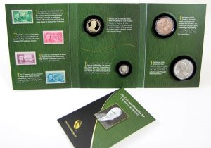 Photo of an opened 2014 FDR Coin and Chronicles Set
