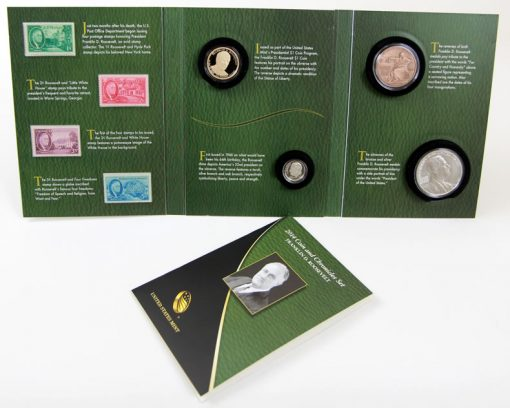 Photo of opened 2014 Franklin D. Roosevelt Coin and Chronicles Set