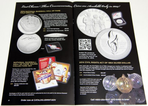 US Mint 2014 Gift Ideas Catalog - Commemorative Coins