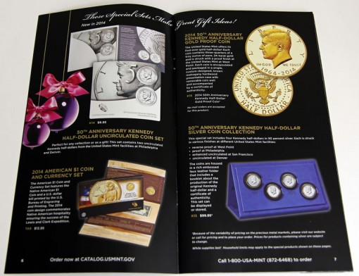 US Mint 2014 Gift Ideas Catalog - Kennedy Products