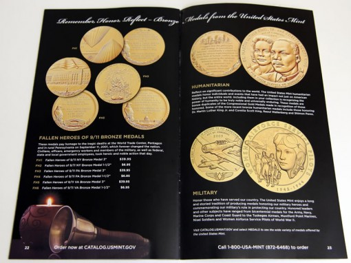 US Mint 2014 Gift Ideas Catalog - Medals