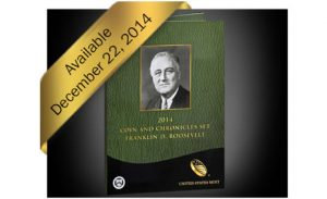 US Mint Banner, 2014 Coin and Chronicles Set- Franklin D. Roosevelt