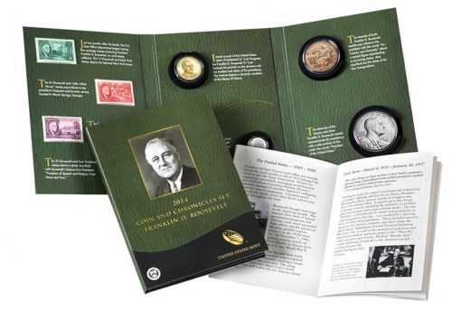 US Mint image of the 2014 Franklin D. Roosevelt Coin and Chronicles Set
