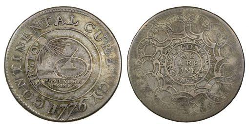 1776 $1 Continental Dollar, NGC XF 40
