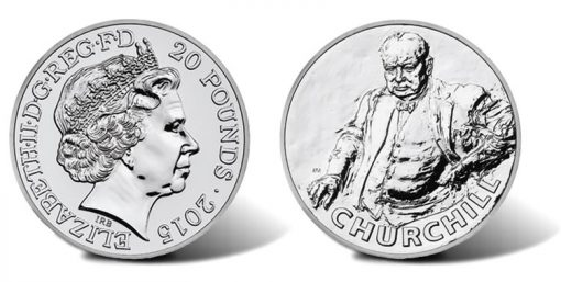 2015 £20 Sir Winston Churchill Silver Coin