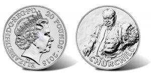 UK 2015 £20 Sir Winston Churchill Silver Coin for £20