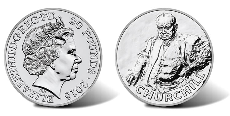 Uk 2015 163 20 Sir Winston Churchill Silver Coin For 163 20