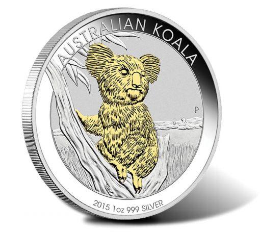 2015 Australian Koala Silver Gilded Coin