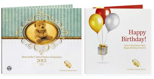 2015 Birth Set and 2015 Happy Birthday Coin Set