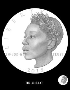 2015 High Relief 24K Gold Coin Candidate Design, HR-O-03-C