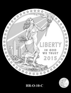 2015 High Relief 24K Gold Coin Candidate Design, HR-O-10-C