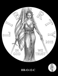 2015 High Relief 24K Gold Coin Candidate Design, HR-O-12-C