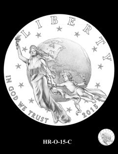 2015 High Relief 24K Gold Coin Candidate Design, HR-O-15-C