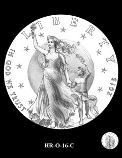 2015 High Relief 24K Gold Coin Candidate Design, HR-O-16-C