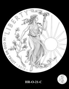 2015 High Relief 24K Gold Coin Candidate Design, HR-O-21-C