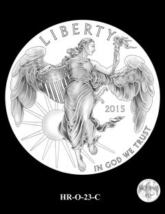 2015 High Relief 24K Gold Coin Candidate Design, HR-O-23-C