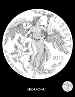 2015 High Relief 24K Gold Coin Candidate Design, HR-O-24-C