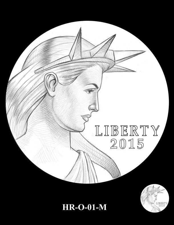 2015 High Relief Silver Medal Candidate Design, HR-O-01-M