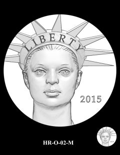 2015 High Relief Silver Medal Candidate Design, HR-O-02-M