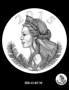 2015 High Relief Silver Medal Candidate Design, HR-O-05-M
