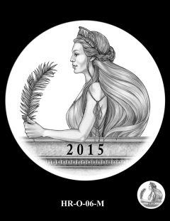 2015 High Relief Silver Medal Candidate Design, HR-O-06-M