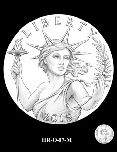 2015 High Relief Silver Medal Candidate Design, HR-O-07-M