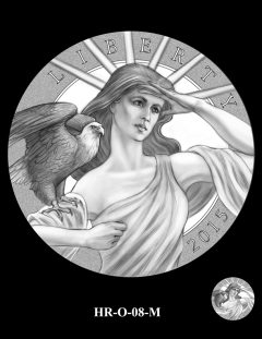 2015 High Relief Silver Medal Candidate Design, HR-O-08-M
