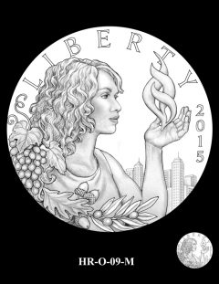 2015 High Relief Silver Medal Candidate Design, HR-O-09-M