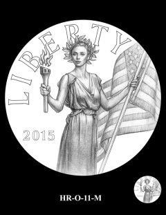 2015 High Relief Silver Medal Candidate Design, HR-O-11-M