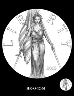 2015 High Relief Silver Medal Candidate Design, HR-O-12-M