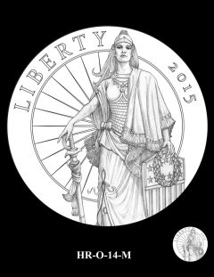 2015 High Relief Silver Medal Candidate Design, HR-O-14-M