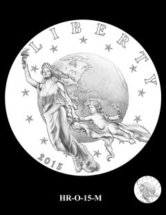 2015 High Relief Silver Medal Candidate Design, HR-O-15-M