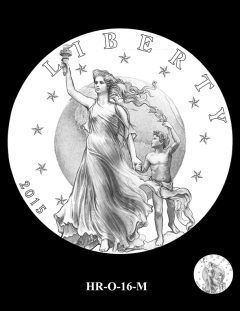 2015 High Relief Silver Medal Candidate Design, HR-O-16-M