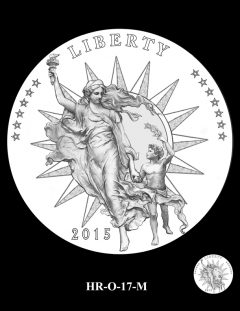 2015 High Relief Silver Medal Candidate Design, HR-O-17-M