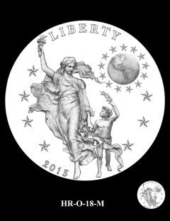 2015 High Relief Silver Medal Candidate Design, HR-O-18-M