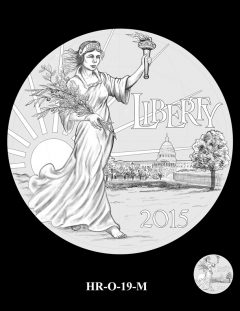 2015 High Relief Silver Medal Candidate Design, HR-O-19-M