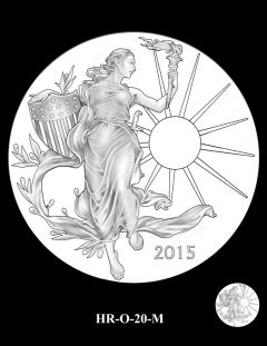 2015 High Relief Silver Medal Candidate Design, HR-O-20-M