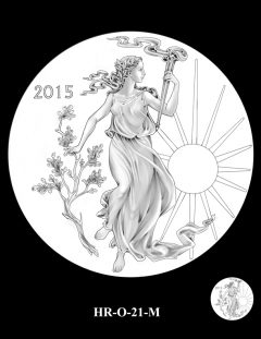 2015 High Relief Silver Medal Candidate Design, HR-O-21-M