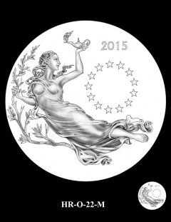 2015 High Relief Silver Medal Candidate Design, HR-O-22-M
