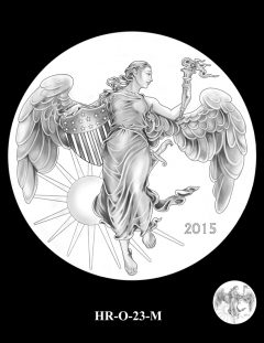 2015 High Relief Silver Medal Candidate Design, HR-O-23-M