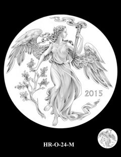 2015 High Relief Silver Medal Candidate Design, HR-O-24-M
