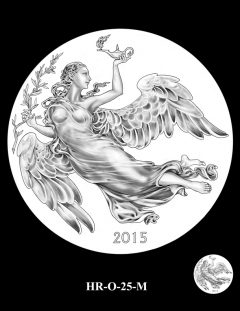 2015 High Relief Silver Medal Candidate Design, HR-O-25-M
