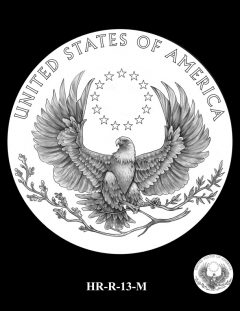 2015 High Relief Silver Medal Candidate Design, HR-R-13-M