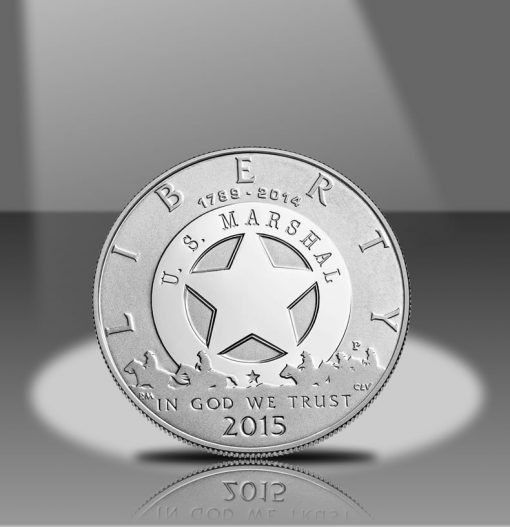 2015-P Proof US Marshals Service 225th Anniversary Silver Dollar Obverse