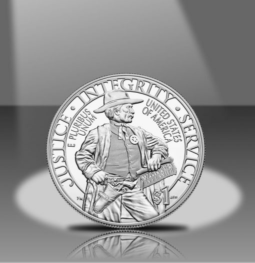 2015-P Proof US Marshals Service 225th Anniversary Silver Dollar Reverse