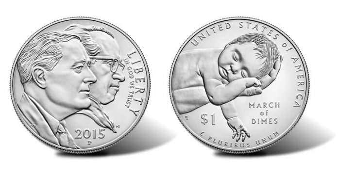 2015-P Uncirculated March of Dimes Silver Dollar